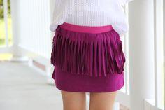 Fringe Skirt DIY - The Sewing Rabbit
