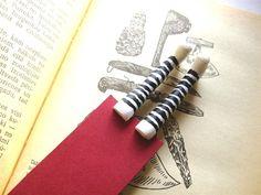 Striped socks bookmark White socks bookmark- gift- funny gift