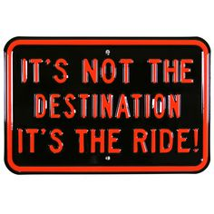 Harley-Davidson The Ride Not Destination Metal Sign | Embossed Garage Signs | RetroPlanet.com