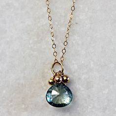 Love the color Erica Sara Designs Store - Mystic Green Topaz Droplet Necklace, $68.00 (http://store-1c4ee.mybigcommerce.com/mystic-green-topaz-droplet-necklace/)