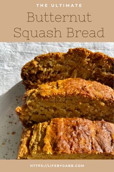 Butternut squash bread?!?! You heard me right. This butternut squash bread recipe can be make from fresh butternut squash or frozen. It's a great quick bread for breakfast, a snack, or even dessert! #butternutsquash #butternutsquashbread #bread #quickbread #breakfastrecipes #healthybread #healthyloaf Quick Easy Healthy Meals, Healthy Muffin Recipes, Loaf Recipes, Quick Bread Recipes, Real Food Recipes, Keto Recipes, Breakfast Recipes, Unique Recipes, Amazing Recipes