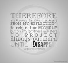 Abnegation manifesto divergent quote