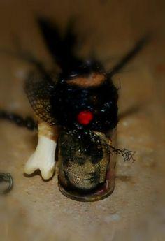 Glass vial Victorian memento mori message in by MyPrettyDeadThings, $13.00