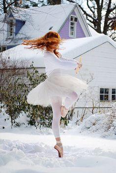 ginger snow ballerina
