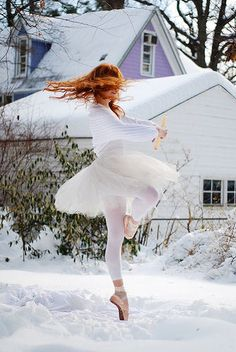 ginger snow ballerina