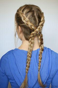 Criss cross dutch braids