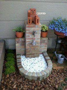 garden of 1000 fountains Backyard Projects, Garden Projects, Garden Sink, Garden Deco, Garden Fountains, Front Yard Landscaping, Garden Design, Outdoor Decor, Personal Space