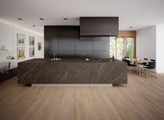 Image 1 of 7 from gallery of Slabs - Pietra Grey Gray Kitchen Countertops, Porcelain Countertops, Best Interior, Interior Design, Küchen Design, Tile Design, Grey Flooring, Wall Tiles, Showroom