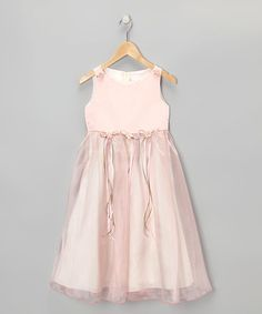 Look at this #zulilyfind! Rose Satin Organza Dress - Infant, Toddler & Girls by Kid's Dream #zulilyfinds