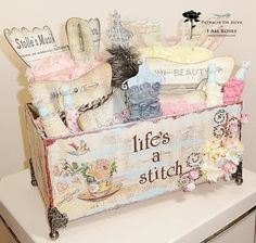 Handmade Shabby Chic Box Of Trims...oh, I love it...where's mine?  :)
