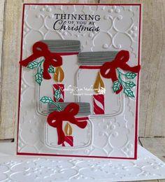 Cards Jar of Cheer image from Rambling Rose Studio Stampin Up