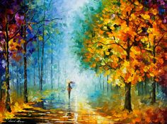 Original Recreation Oil Painting on Canvas  This is the best possible quality of recreation made by Leonid Afremov in person.    Title: Morning