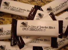 Chocolates! Adorei a ideia.