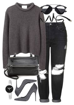 """""""Untitled #1532"""" by sophiasstyle ❤ liked on Polyvore featuring Topshop, 3.1 Phillip Lim, Schutz, Givenchy, H&M and Christian Van Sant"""