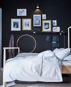 "gravityhome: ""Shared IKEA bedroom Follow Gravity Home: Blog - Instagram - Pinterest - Facebook - Shop """