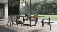 Modern Lisson Dining Table by Modloft Living Furniture, Home Furniture, Dining Room Table, Dining Chairs, Wholesale Furniture, Walnut Veneer, Design Awards, Fine Dining, Home Decor Inspiration