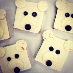 Polar Bear ham and cheese sandwich Polar Beat, Polar Bear Party, Theme Ideas, Party Ideas, Preschool Cooking, Appetizers For Kids, Christmas Snacks, Ham And Cheese, Winter Fun