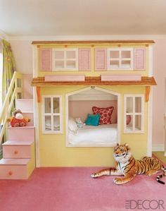 Playhouse bunks.
