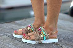 Sandalias Boho hecho a mano sandalias de cuero por DimitrasWorkshop