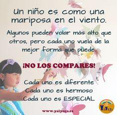 No compares a los niños. #cadaniñoesdiferente #respeto #crianzarespetuosa #niños