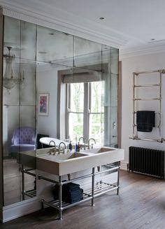 Bathroom Ideas   Tile Backsplash   Antique Mirror   Mercury Glass   Glam Interior   Design Trend 2nd bathroom