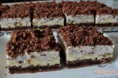 Bögrés vakondtúrás sütemény tepsiben, banánnal | TopReceptek.hu