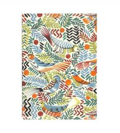 Colorful birds notebook $8