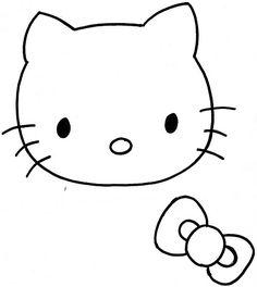molde hello kitty1 Carterita de Hello Kitty en Goma Eva