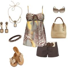 Cute shorts & top, created by mistyleigh.polyvore.com