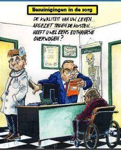 Bezuinigingen in de zorg..