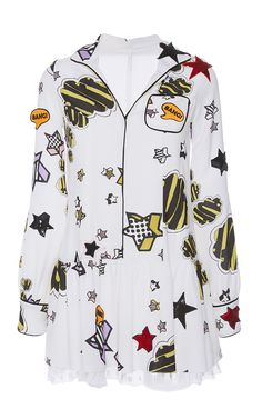 Icon Shirt Dress by GIAMBA for Preorder on Moda Operandi
