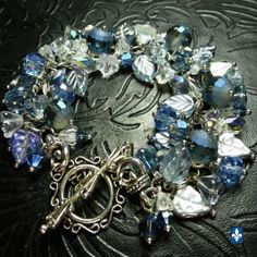 Mixed-Icy-Blue-Tones-Cz-Glass-Elements-Plated-Silver-Bracelet