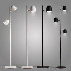 Nordic creative iron 1/ 2/3 floor lights modern living room light bedroom bedside hotel decorations white /black floor lamps