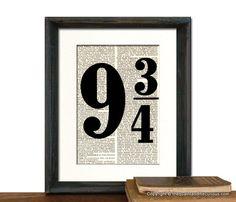 Harry Potter Platform Nine and threequarter by QuaintandCurious, $12.00