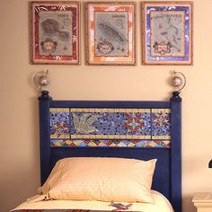 Chandler Mosaic Headboard ....this is the style of headboard I'm thinking of...only in queen....the mosaic tiles I already have!!!