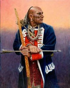 Shawnee Indian War Chief- Blue Jacket | Shawnee | Pinterest ...