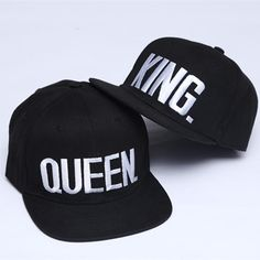e3ceb16be16 KING QUEEN Embroidery Snapback Hat Acrylic Men Women Couple