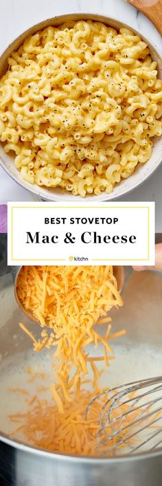 This stovetop mac and cheese is super easy. Just add some cheddar, Monterey Jack, or Colby to your macaroni with a healthy dose of milk and whatever toppings your heart desires. Think ham, bacon, onion or peas! Good Macaroni And Cheese Recipe, Quick Mac And Cheese, Mac And Cheese Sauce, Stovetop Mac And Cheese, Creamy Macaroni And Cheese, Making Mac And Cheese, Macaroni Recipes, Pasta Cheese, Creamy Cheese