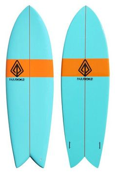 "Paragon Retro Fish 6'0"" Blue-Orange-Blue Surfboard"