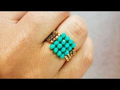 Herringbone Ring Tutorial - Hey Guys, How are you? Welcome to another DIY Jewelry Tutorial, In this video i will show you how - Diy Beaded Rings, Diy Jewelry Rings, Diy Jewelry Tutorials, Diy Rings, Simple Jewelry, Wire Jewelry, Beaded Earrings, Jewelry Making, Jewelry Findings