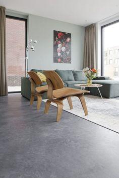 Gevlinderde betonvloer, betonvloer gevlinderd - Willem designvloeren
