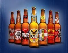 Cervezas de los antihéroes de cómics