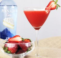 Strawberry Angel Food Cake Martini Ingredients: 4 oz. *Cake flavored vodka 4 oz. White Cran-Strawberry juice 4 oz. Lemon/Lime soda Fresh strawberries Low Fat whipped cream *Can substitute whipped cream vodka or vanilla vodka – whichever you have on hand.