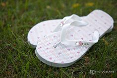 Great to remember someone who is fighting or fought against Breast Cancer on your wedding day! Crystal GO PINK flip flops Breast Cancer Awareness by fancyflop, $35.00