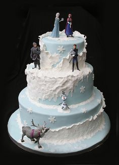 frozen themed birthday cake with stairs - Google Search