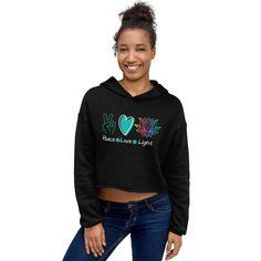 Cropped Hoodie, Black Hoodie, Singles Awareness Day, Hooded Sweatshirts, Hoodies, Rainbow Fashion, Vintage Colors, Yoga, Spun Cotton