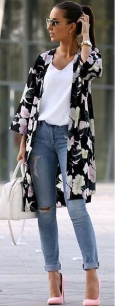 We found 40 stylish spring casual to chic outfits for your spring street style - Trend Wear Outfits Damen, Komplette Outfits, Fall Outfits, Casual Outfits, Fashion Outfits, Dress Casual, Dress Fashion, Fashion Clothes, Cardigan Outfits