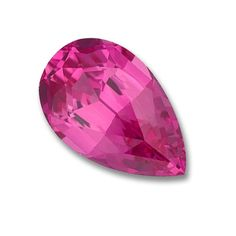 7x5mm Pear Shaped Gem Quality Chatham-Created Cultured Pink Sapphire Weighs .78-.96 Ct.