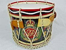 20th C. Hand Painted Brass Military Drum WWW.JJAMESAUCTIONS.COM