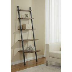 """Unique Furniture Parson 71"""" Leaning Bookcase"""